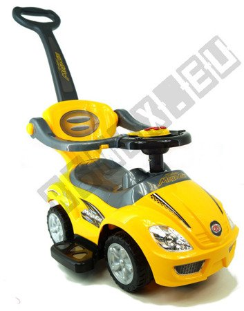 The vehicle, Walker, pusher 3 in 1 yellow