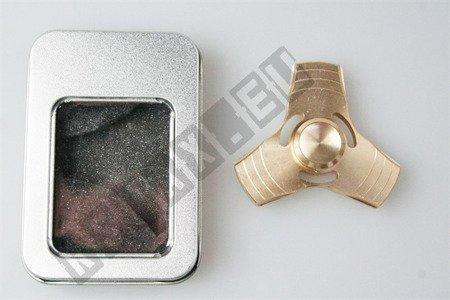 Oryginalny super FIDGET SPINNER aluminiowy złoty