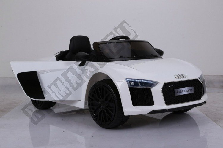 Auto Battery Audi R8 Spyder License White Electric Vehicles For