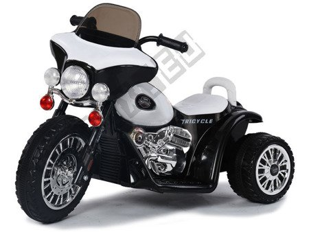 Super motor tricycle on battery black
