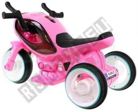 Super motorek Hornet pink battery