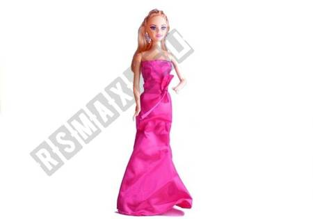 A doll in an evening gown - 3 variants Blue Pink