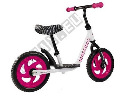 Balance bike Massimo White and Pink