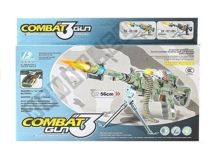 Battery Operated Kids Toy Machine Gun Lights Sounds
