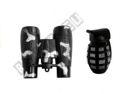 Battery-powered Rifle Grenade and Binoculars