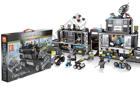 Bricks SWAT Special Forces Truck Police Station 1164 Elements