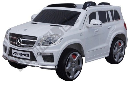 Car on Mercedes GL63 AMG battery leather white