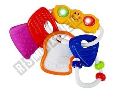 Colorful Clapper Glowing Keys Teether