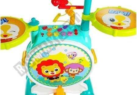 Colorful Drum Set for a Little Musician with Chair