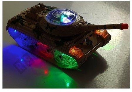 Czołg Na Baterie Światła i dźwieki 30cm