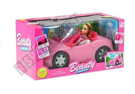 Doll Travelling with a Cabrio Car