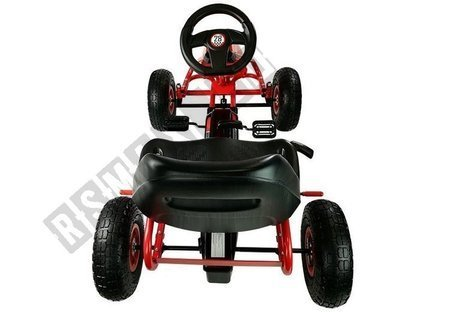 Electric Ride-On Go-kart HP003D Pumped Wheels Red