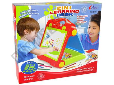 Foldable 2in1 Blackboard Suitcase - Chalk & Marker