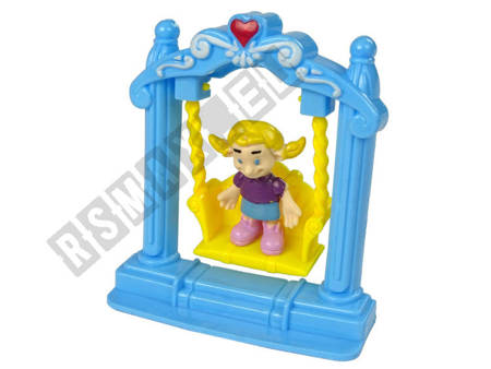 Foldable Toy House Figures Colorful Lights