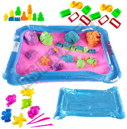 Inflatable sandbox, sand kinetic 2 kg