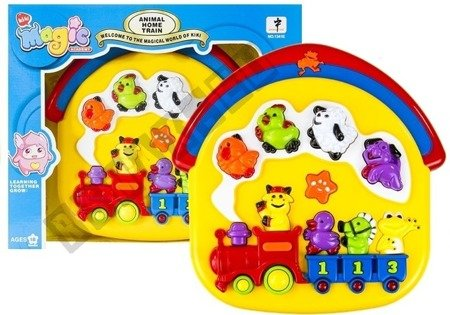 Interactive Musical Train - with Various Sounds of Farm Animals