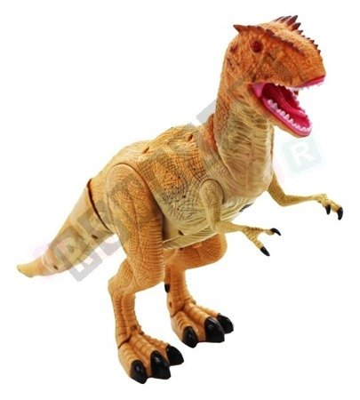 Interactive dinosaur T-REX remote controlled Brown