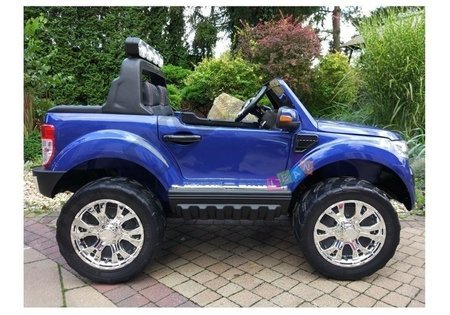 New Ford Ranger Blue Painting - 4x4 Electric Ride On Car - LCD Display