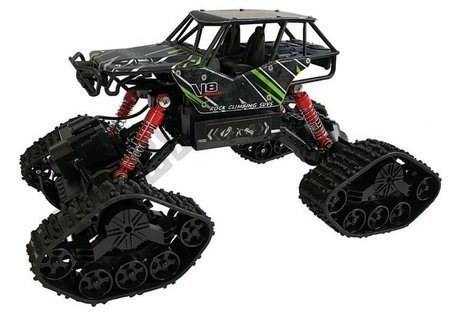 Offroad R/C Car 4x4 Black with Green Pattern