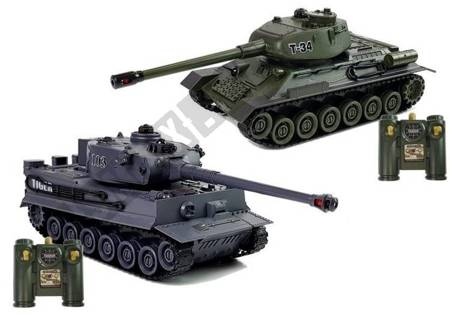 Set of Two Remote Controlled Tanks R/C