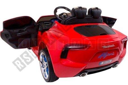 Auto auf Maserati Batterie 12V rot