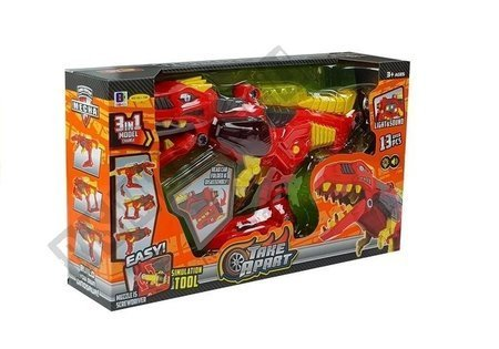 Dinozaur Transformacja 3w1 Do Składania Światła