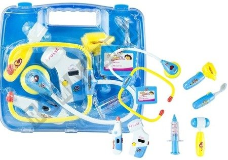 Doktor Arzt Koffer mit Zubehör Blau umfangreiches umfangreiches Set Koffer
