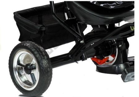 Dreirad PRO300 Schwarz EVA-Reifen Sonnendach Dreirad für Kind