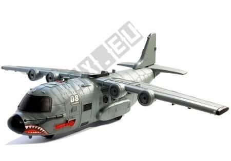 Duży Samolot Wojskowy z Akcesoriami 75 cm