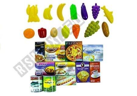 Einkaufswagen Obst Gemüse 25 Elemente Lebensmittel umfangreiches Set Spielzeug