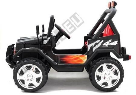 Elektroauto Für Kinder Off-Road JEEP Raptor Schwarz MP3 Fernsteuerung Auto