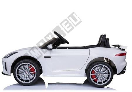 Elektroauto Jaguar F-Type Weiß EVA-Reifen Ledersitz 2.4G USB SD MP3 Auto