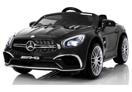 Elektroauto Mercedes SL65 LCD Schwarz EVA-Reifen Ledersitz USB SD MP3 Auto