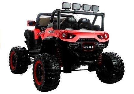 Elektroauto XJL-588 Rot EVA-Reifen Ledersitz 4x45W LED Frontscheinwerfer