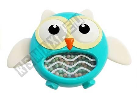 Eulenrassel Beißring Kinderspielzeug Blau