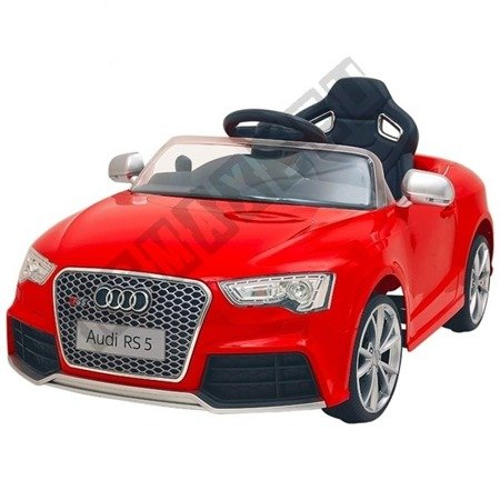 Kinderauto AUDI RS5 Lizenz Elektroauto Ledersitz lackiert rot