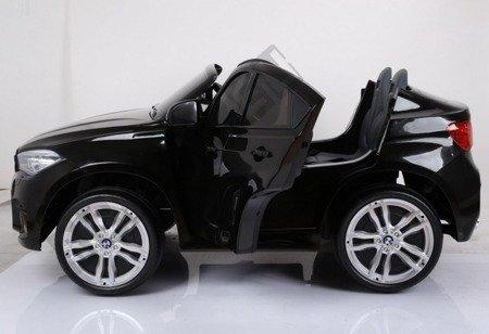 Kinderauto BMW X6M Doppelwagen wiederaufladbar schwarz lackiert