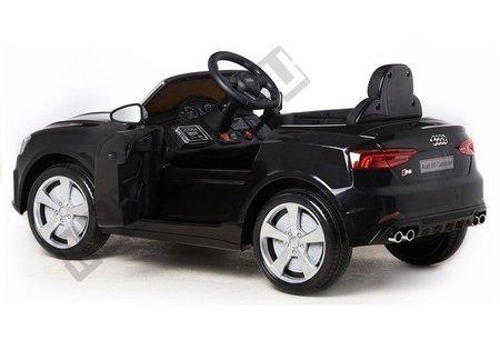 Kinderfahrzeug Audi S5 Schwarz lackiert 2x45W EVA-Reifen Ledersitz 2.4G Auto