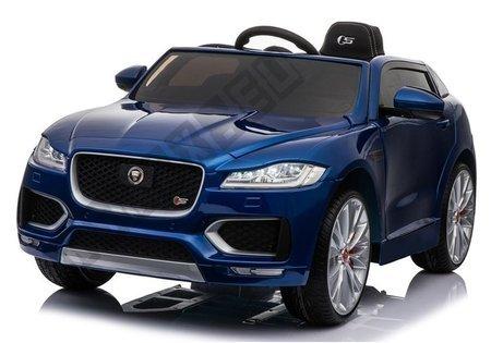 Kinderfahrzeug Jaguar F- Pace Blau lackiert EVA-Reifen Ledersitz 2x45W Fahrzeug