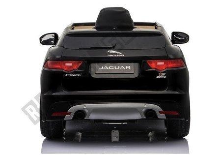 Kinderfahrzeug Jaguar F- Pace Schwarz lackiert EVA-Reifen Ledersitz 2x45W