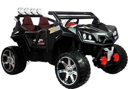 Kinderfahrzeug KL2988 Schwarz 2.4G Ledersitz USB SD Felgen Kinderfahrzeug Auto