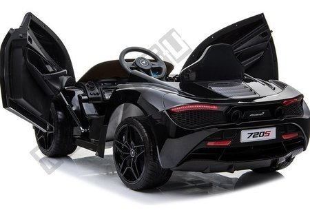 Kinderfahrzeug McLaren 720S Schwarz lackiert EVA-Reifen Ledersitz 2x45W Auto