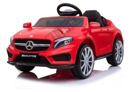 Kinderfahrzeug Mercedes GLA45 Rot EVA-Reifen Ledersitz 2x45W Auto Fahrzeug Auto