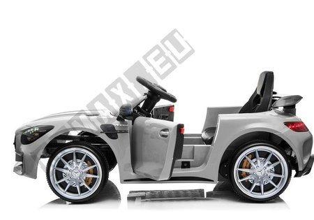 Kinderfahrzeug Mercedes GT R Silber lackiert EVA-Reifen Ledersitz Auto Fahrzeug