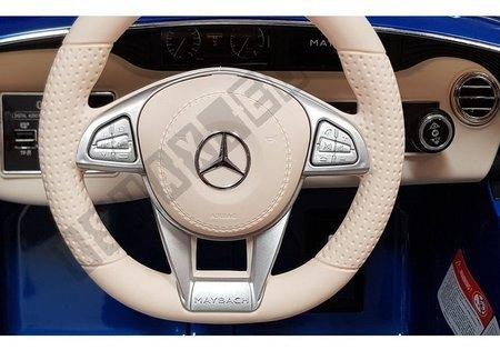 Kinderfahrzeug Mercedes Maybach Weiß Ledersitz EVA-Reifen Auto