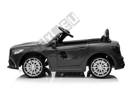 Kinderfahrzeug Mercedes SL63 Schwarz lackiert EVA-Reifen Ledersitz 2x45W Auto