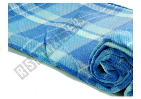 Picknickdecke 150x250cm blau kariert weiches Material