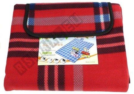 Picknickdecke 150x250cm dunkelblau-rot kariert weiches Material