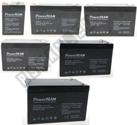 PowerMAX Gel-Akku Baterie AGM 6V/4,5aH/7aH/12aH 12V/7aH/9aH/12aH