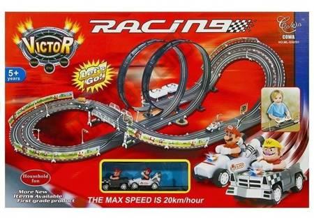 Rennbahn Racing Mario 450cm 2 Autos Autorennbahn Spielzeug Set